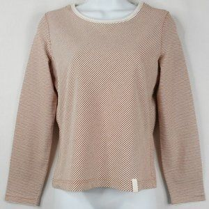i.e. Relaxed Top PM Beige Striped Long Sleeve